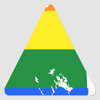Sticker Triangulaire Carte de drapeau du New Hampshire LGBT