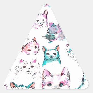 Sticker Triangulaire Cat