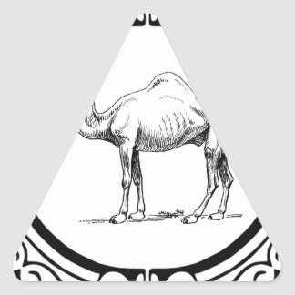 Sticker Triangulaire cercle du chameau