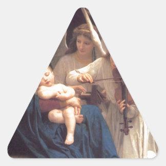Sticker Triangulaire Chanson des anges - William-Adolphe Bouguereau