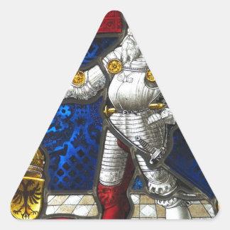 Sticker Triangulaire chevalier #3