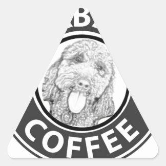 Sticker Triangulaire chien Starbucks
