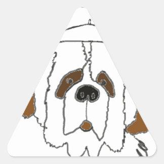 Sticker Triangulaire Chiot Francis pour de petits articles