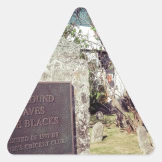 Sticker Triangulaire Cimetière d'esclaves