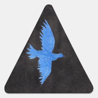 Sticker Triangulaire Colombe bleue