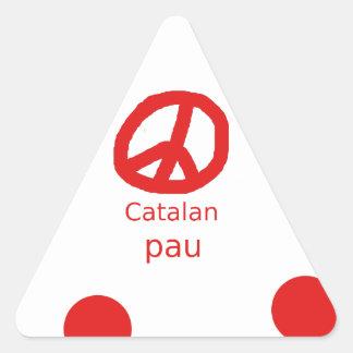 Sticker Triangulaire Conception catalanne de langue de symbole de paix