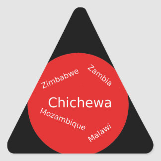 Sticker Triangulaire Conception de langue de Chichewa