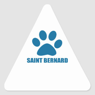 STICKER TRIANGULAIRE CONCEPTIONS DE CHIEN DE ST BERNARD