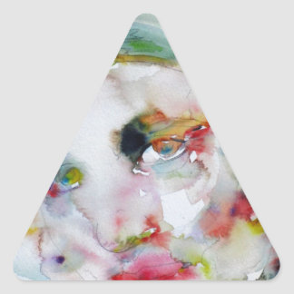 Sticker Triangulaire couche-point d'ayn - portrait d'aquarelle