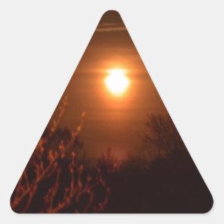 Sticker Triangulaire Coucher du soleil de la Virginie Occidentale