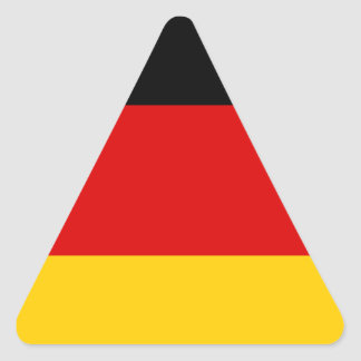 Sticker Triangulaire Coût bas ! Drapeau allemand