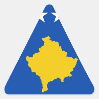 Sticker Triangulaire Coût bas ! Drapeau de Kosovo