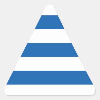 Sticker Triangulaire Coût bas ! Drapeau de la Grèce
