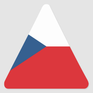 Sticker Triangulaire Coût bas ! Drapeau de République Tchèque