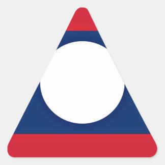 Sticker Triangulaire Coût bas ! Drapeau des Laotiens