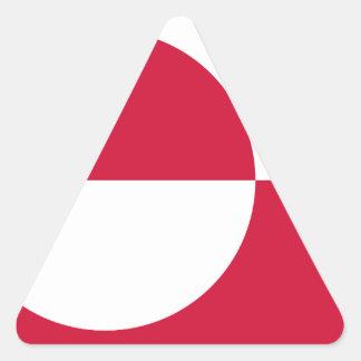 Sticker Triangulaire Coût bas ! Drapeau du Groenland
