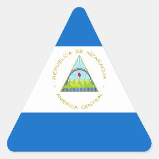 Sticker Triangulaire Coût bas ! Drapeau du Nicaragua
