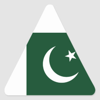 Sticker Triangulaire Coût bas ! Drapeau du Pakistan