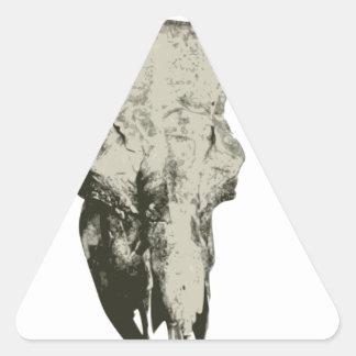 Sticker Triangulaire Crâne de bison