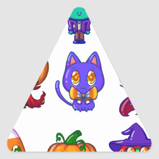 Sticker Triangulaire Cute little monsters