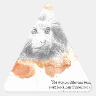 Sticker Triangulaire Démon d'or de singe - ses matériaux foncés