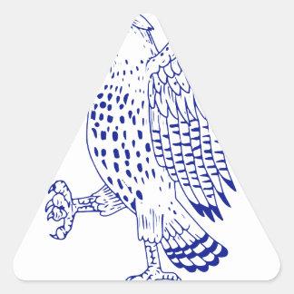 Sticker Triangulaire dessin de marche Pointu-shinned de faucon