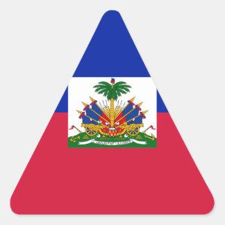 Sticker Triangulaire d'Haïti de Drapeau - drapeau du Haïti