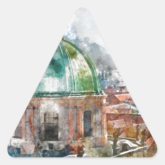 Sticker Triangulaire Dôme dans la République Tchèque de Prague