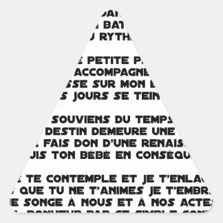 Sticker Triangulaire DORS - Poème - Francois Ville