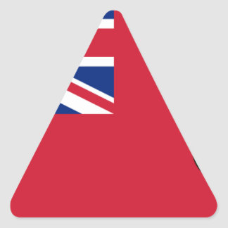 Sticker Triangulaire Drapeau des Bermudes