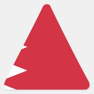 Sticker Triangulaire Drapeau du Bahrain