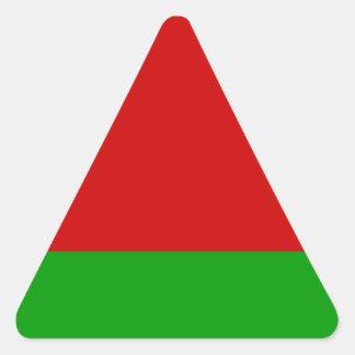 Sticker Triangulaire Drapeau du Belarus
