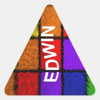 STICKER TRIANGULAIRE EDWIN