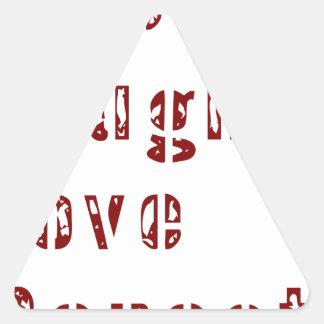 Sticker Triangulaire Famille mignonne de rire de répétition vivante