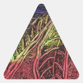 Sticker Triangulaire Feuille de banane