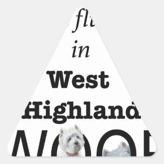 Sticker Triangulaire Fluide dans Woof des montagnes occidental
