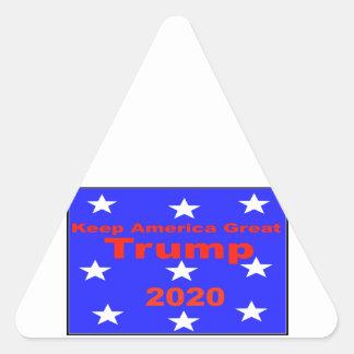 Sticker Triangulaire Gardez le slogan politique de l'atout 2020 de