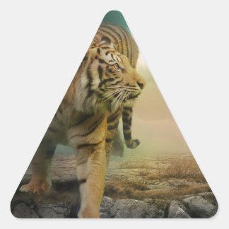 Sticker Triangulaire Grand tigre