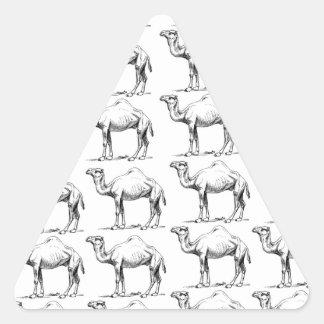 Sticker Triangulaire groupe de troupeau de chameaux