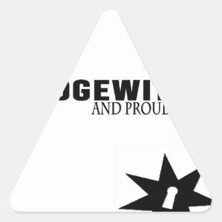 Sticker Triangulaire Hedgewitch et fier de lui