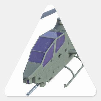 Sticker Triangulaire Hélicoptère d'Apache dans la vue de face