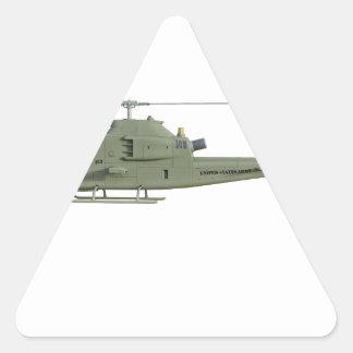 Sticker Triangulaire Hélicoptère d'Apache dans le profil de vue de côté
