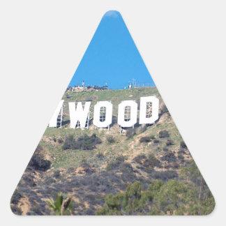 Sticker Triangulaire Hollywood Hills