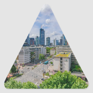 Sticker Triangulaire Horizon de Francfort