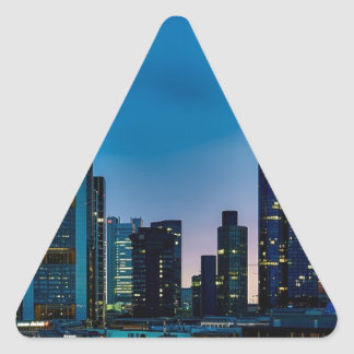 Sticker Triangulaire Horizon de Francfort Allemagne