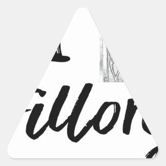 Sticker Triangulaire I (horloge) Fillory