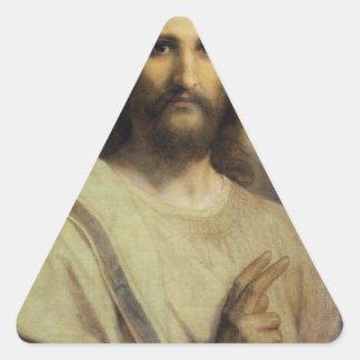 Sticker Triangulaire Image du seigneur - Heinrich Hofmann