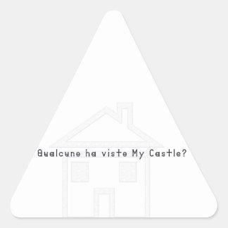 Sticker Triangulaire Italien-Château