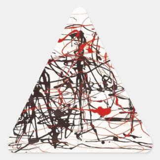 Sticker Triangulaire Jackson Pollock sans titre