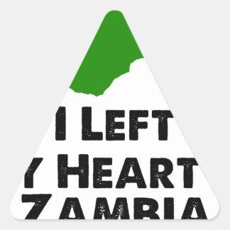Sticker Triangulaire J'ai laissé mon coeur en Zambie